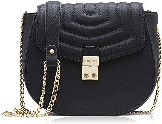 LaBante London - Cross Body Bag - Courtney - Black Handbag for Women | Small Over Shoulder Bags For Women PU Vegan Leather