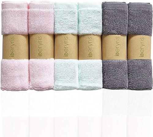 Débarbouillettes de Bambou Bébé (6 paquets) Ultra-Douces serviettes super absorbantes Doux sur la peau sensible pour ...