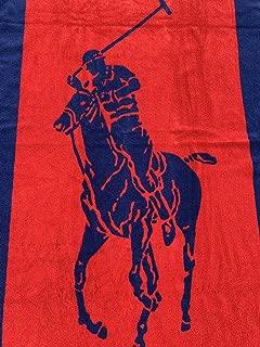 Ralph Lauren Pony Beach Towel Navy/Red