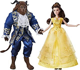 Disney Beauty and the Beast Grand Romance - Inspired by Live-Action Film - Includes Posable Princess Belle and the Beast - Includes Doll, Dress, Shoes, Necklace, Hairpiece, and Beast Figure