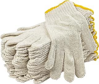 12 Pack Beige String Knit Gloves 10