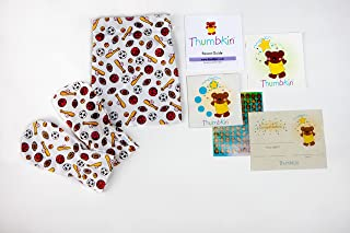 Stop Thumb Sucking Complete System With Step by Step Parent Guide - Bats and Balls Pattern -By Thumbkin - Small