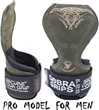 Cobra Grips PRO Weight Lifting Gloves Heavy Duty Straps Alternative Power Lifting Hooks Best for Deadlifts Adjustable Neoprene Padded Wrist Wraps Support Bodybuilding