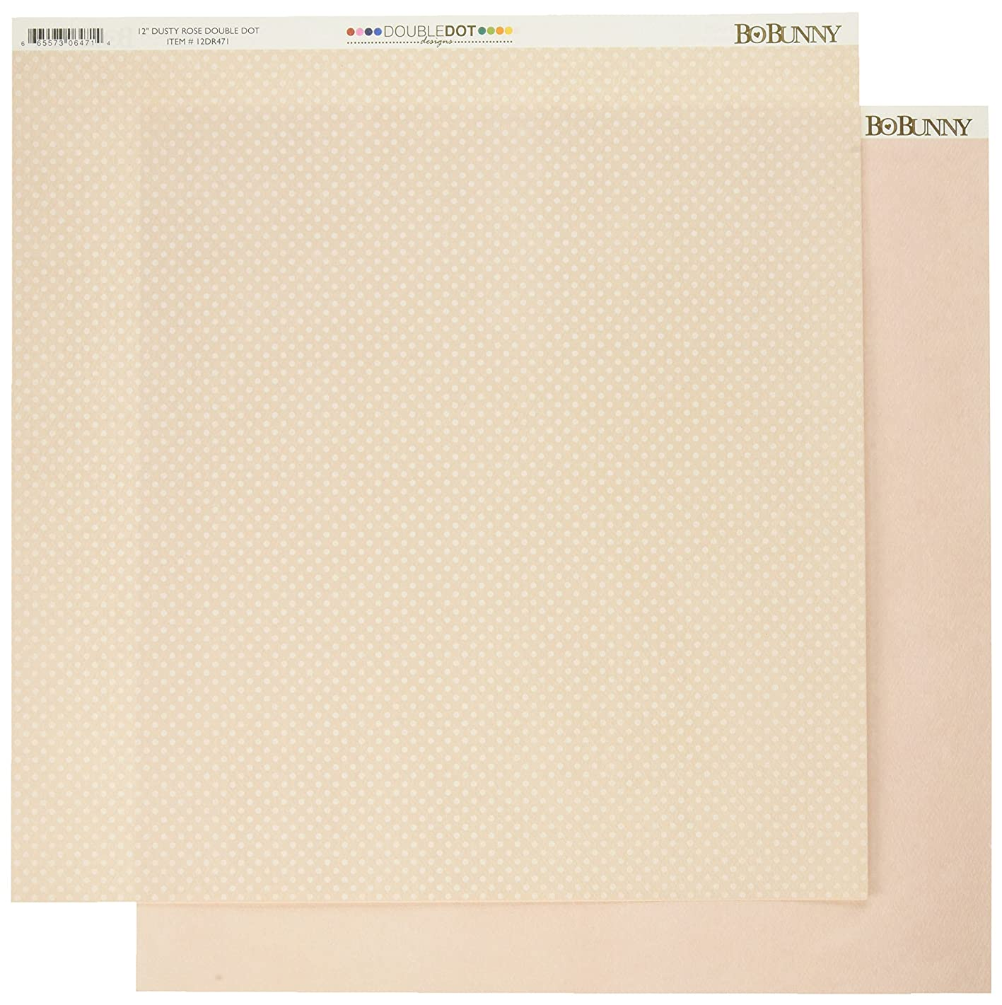 Bo Bunny 12DR471 Double Dot Double-Sided Textured Cardstock (25 Sheets Per Pack), 12
