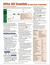 Microsoft Office 365 Essentials Quick Reference Guide - Windows Version (Cheat Sheet of Instructions, Tips & Shortcuts - Laminated Card)