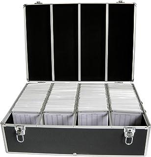 MediaRange BOX74 - Caja de Almacenamiento para CD/DVD (Espacio para 1000 Discos), Color Negro