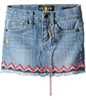 Lucky Brand Kids - Denim Mini Skirt w/ Embroidery (Toddler)