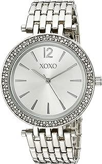 XOXO XO263 - Reloj de cuarzo para mujer, acero inoxidable y tono plateado, color plateado -