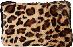 Faux Fur Color Block Clutch
