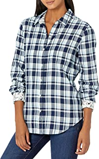 Lucky Brand Women's Long Sleeve Button Up Classic One Pocket Shirt