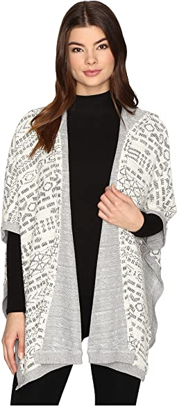 Archibald Jacquard French Terry Hooded Poncho