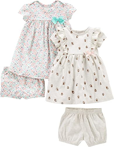 Simple Joys by Carter's Robe Courtes et sans Manches Bébé Fille, Lot de 2