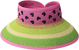 San Diego Hat Company Kids Striped Roll Up w/ Painted Pattern (Little Kids/Big Kids)