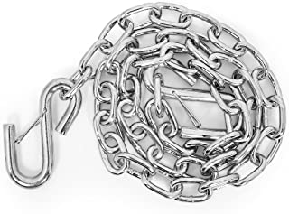 """Camco Heavy Duty Steel 48"""" Safety Chain with Spring Hooks - Secures Tow Vehicle to Trailer 