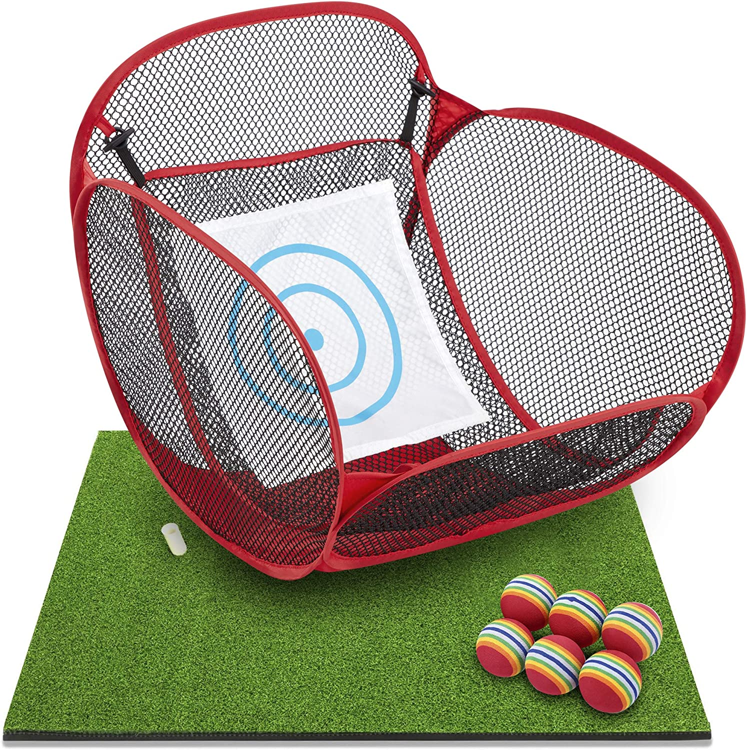 wosofe Kids Golf Chipping Net Hitting and Practice Raleigh Mall mat Weekly update Faom 6 Ba