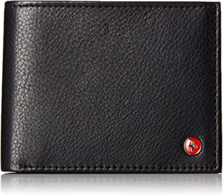 RFID SAFE Alpine Swiss Mens Deluxe Wallet Genuine Leather 14 Pocket ID Bifold