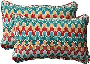 Pillow Perfect Outdoor Nivala Corded Rectangular Throw Pillow, Blue, Set of 2