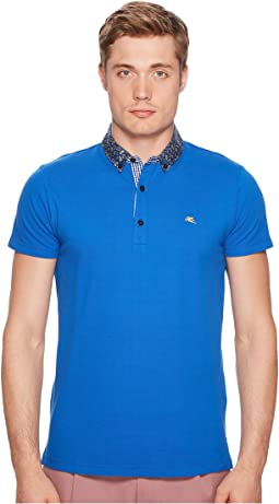 Etro - Paisley Trimmed Polo