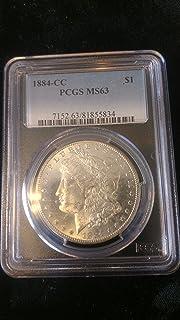 1884 CC Morgan Dollar $1 MS-63 PCGS