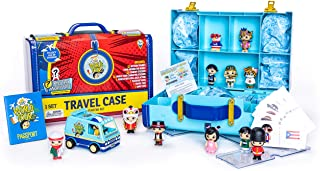 Ryan's World Tour Suitcase, 12 Country Themed Mystery Micro Figures With Matching Stickers, Exclusive Vehicle, Educational...