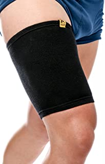 Agon Thigh Compression Sleeve Brace Support Compression Recovery Thighs Wrap Pain Relief for Sore Hamstring Groin Quad Sweat Men & Women Hip Injury Thigh Compressions Trimmer Active Sports