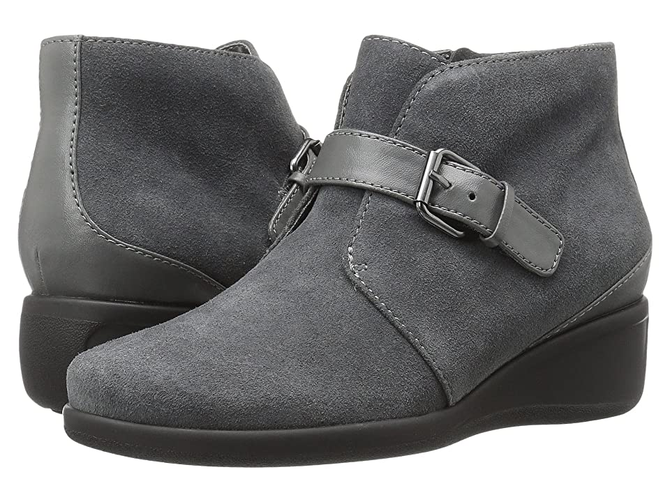 Trotters Mindy (Dark Grey Cow Suede Leather) Women