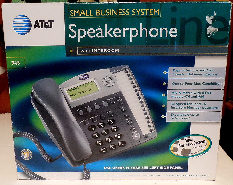 AT&T 945 4-Line Speakerphone with Intercom