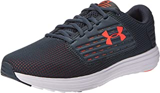 Under Armour Surge SE, Men's Running Shoes, Grey (Wire/White/Beta Red), 42 EU