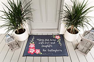 Qualtry Personalized by Last Name Outdoor Doormat Entrance Rugs 24
