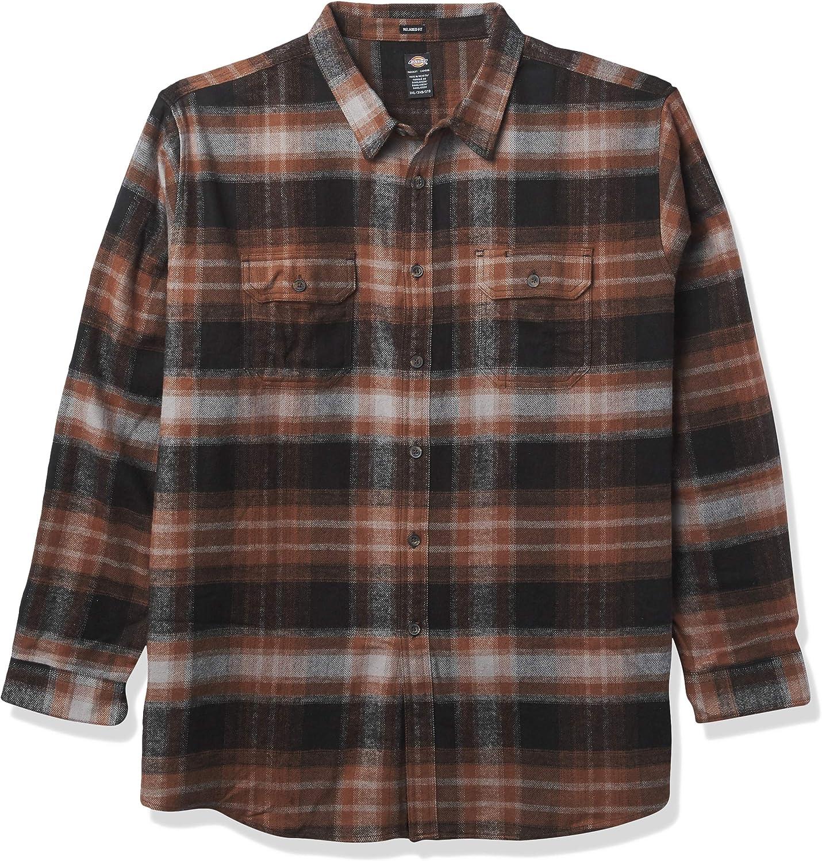 Dickies Men's Long Sleeve Heavyweight Flannel Shirt