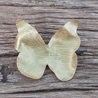 Broche mariposa en color dorado, broche para ropa mujer.