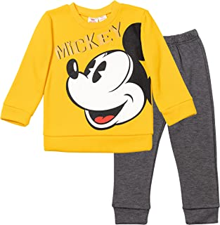 Disney Mickey Mouse Boys Fleece Pullover Sweatshirt and Jogger Pants Set