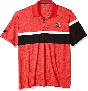 NCAA Maryland Terrapins Mens NCAA Men's Short Sleeve Striped Polo Collared Teechampion NCAA Men's Short Sleeve Striped Polo Collared Tee, Athletic Red, Small