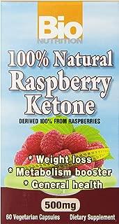 Bio Nutrition 100% Natural Raspberry Ketone Vegi-Caps, 500 mg, 60 Count