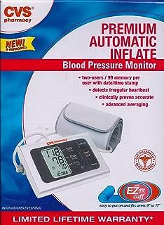 Cvs Premium AUTOMATIC Inflate Blood Pressure Monitor CVSBPAUTOPREM