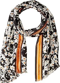 Pop Color Ditsy Floral Silk Scarf