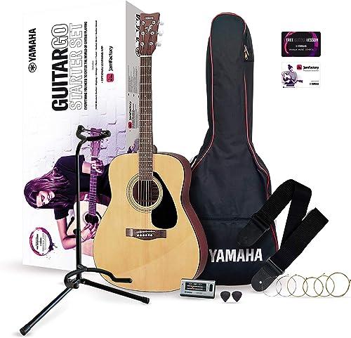 Yamaha GuitarGo – Kit d'initiation – Pack guitare acoustique pour débutants et guitaristes confirmés – Cordes, médiat...