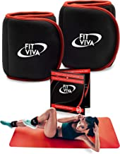 Fit Viva Ankle Weights Set - Wrist Weights for Women and Men (1, 2, 3 lbs) - Perfect for Weight Lifting, Core & Leg Training or Cardio – Great GlFT