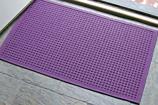 M+A Matting - 280680023 WaterHog Fashion Commercial-Grade Entrance Mat, Indoor/Outdoor Charcoal Floor Mat 3' Length x 2' W...