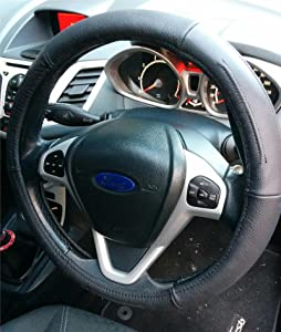 Hide Damaged Worn Out Old Original Wheel With Wheel Cover Genuine Black Leather