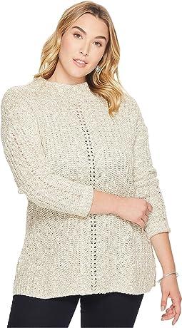 Plus Size Open Stitch Sweater