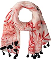 Kate Spade New York - Flamingo Oblong Scarf