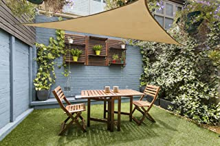 Love Story 12' x 12' x 12' Triangle Sand UV Block Sun Shade Sail Perfect for Outdoor Patio Garden