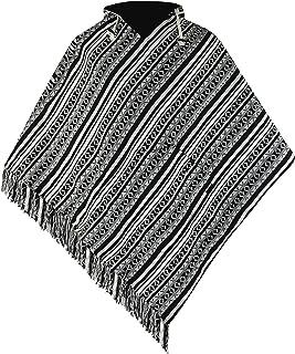 virblatt - Poncho Men | 100% Cotton | Mexican Poncho Baja Hoodie Men | Reversible | Pancho Mexican Hooded Aztec Cape