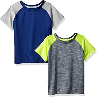 Amazon Essentials Boys 2-Pack Short-Sleeve Raglan Active Tee