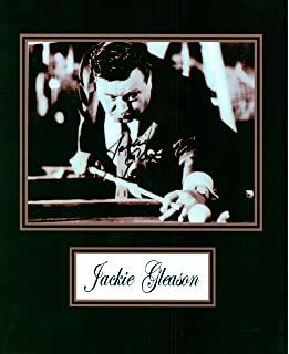 Jackie Gleason, 8 X 10 Autograph Photo on Glossy Photo Paper
