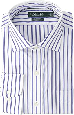 Classic Fit No-Iron Striped Cotton Dress Shirt