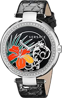 Versace Women's I9Q91D9HI S009 Mystique Stainless Steel Black Sunray Dial Watch