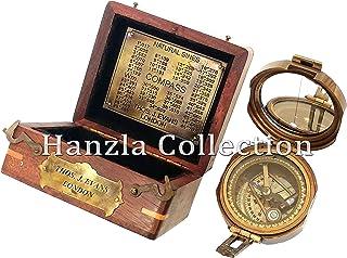 da13b47b9 Brunton - Brújula de latón macizo, náutica, antigua, en caja de madera  clásica