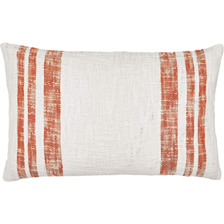 Amazon Com Carol Frank Morgan Canyon Pillow Modern Stripes Decorative Throw Pillow For Couch Chair Living Room Bedroom 14 X 22 Orange Home Kitchen
